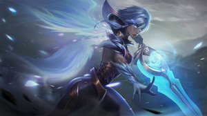 Riven Riven League Of Legends Angels Wings Looking At Viewer Sword Grey Hair League Of Legends PC Ga 1920x1080 Wallpaper