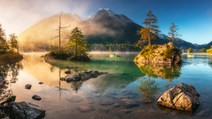 Mountains Water Boat Rocks River Nature Outdoors Photography Landscape Waterscape Reflection Pawel U 2048x1526 Wallpaper
