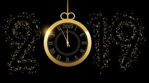 Clock New Year 2019 4440x2960 Wallpaper