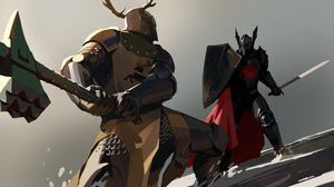 A Song Of Ice And Fire Armor Fight Game Of Thrones Knight Rhaegar Targaryen Robert Baratheon Shield  5000x2817 wallpaper