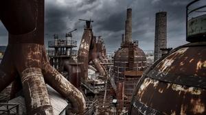 Industrial Old Metal Ruin Rust 2006x1288 Wallpaper