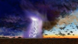 Digital Painting Nature Lightning 1920x1080 Wallpaper