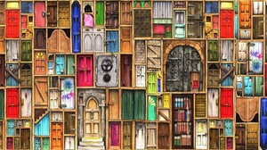 Artistic Colorful Colors Door 1920x1080 Wallpaper