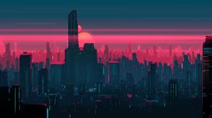 Cityscape Building Skyscraper Futuristic 2560x1440 Wallpaper