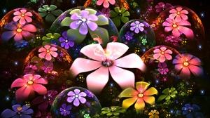 Colors Digital Art Flower 1947x1257 Wallpaper