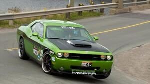 Green Cars Dodge Challenger SRT8 1920x1200 Wallpaper