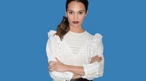 Actress Alicia Vikander Brown Eyes Brunette Lipstick Swedish 3000x2000 Wallpaper