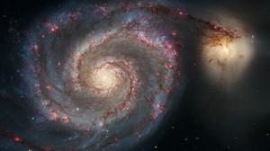 Space Stars Spiral Galaxy NASA Sky Science Whirlpool Hubble 1920x1080 Wallpaper