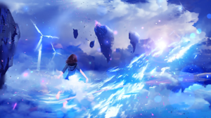 Cloud Fantasy Flying Magic Sunshine Wind Turbine 1920x1088 Wallpaper