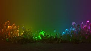 Glowing Colorful Digital Art Razer Inc Crystal Render Razer Chroma Crystals Without Logo 3840x2160 Wallpaper
