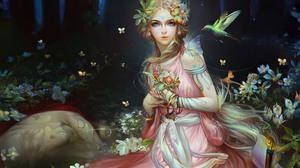 Aqua Eyes Fairy Girl Woman 3840x2400 Wallpaper