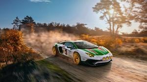 Lamborghini Aventador Motion Blur Rallying 2000x1250 Wallpaper