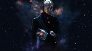 Space Universe Suits Helmet Cube Artwork Futuristic Dan Luvisi Space Futuristic Universe Last Man St 1920x1200 Wallpaper