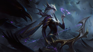 Coven Ashe Ashe League Of Legends Forest League Of Legends Riot Games ADC Adcarry Shadow Dark 4K Dig 7680x4320 Wallpaper