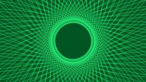 Digital Art Green Lines Spiral 8500x4500 Wallpaper