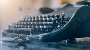 Bird Bokeh Girl Typewriter 5472x3420 wallpaper