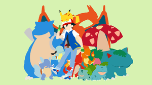 Ash Ketchum Blastoise Pokemon Bulbasaur Pokemon Charizard Pokemon Charmander Pokemon Charmeleon Poke 1920x1080 Wallpaper