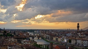 Building City Cityscape Cloud Florence Italy River Tuscany 2048x1089 Wallpaper