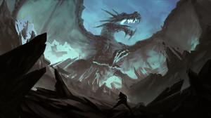 Dragon Drawing Digital Art Digital Painting Fan Art Artwork 1920x937 Wallpaper