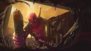 Deadpool Gun Marvel Comics 2000x1080 Wallpaper