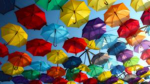 Colors Umbrella 4444x2500 wallpaper