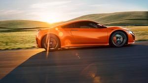 Honda Car Orange Car Sport Car Supercar 4096x2304 Wallpaper