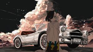 Anime Girls Cruella Fan Art Car Naruwe 1974x1111 wallpaper