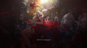 Miv4t Anime Anime Girls Touhou Flandre Scarlet Blonde Cages 2154x1100 Wallpaper