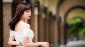 Asian Brunette Depth Of Field Girl Model Woman 4562x3043 Wallpaper