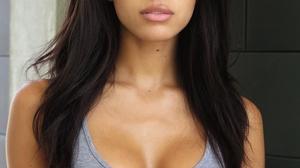 Yovanna Ventura Women Model Brunette Long Hair Dark Hair Latinas Women Indoors Tank Top Dark Skin 1500x2000 Wallpaper