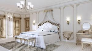Bed Bedroom Furniture Room 5000x3750 Wallpaper