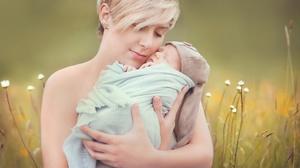 Women Mother Love Baby Outdoors Closed Eyes Women Outdoors 2048x1132 Wallpaper