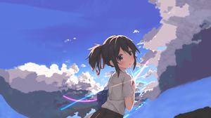Cloud Kimi No Na Wa Mitsuha Miyamizu Your Name 5120x2880 Wallpaper
