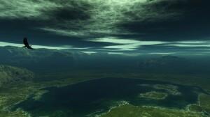 Animal Eagle Earth Lake Landscape Nature Scenic Water 1600x1200 Wallpaper