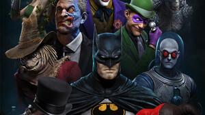 Batman The Penguin The Riddler Two Face Bane Poison Ivy Killer Croc Scarecrow Character Mr Freeze Ha 1171x1758 Wallpaper
