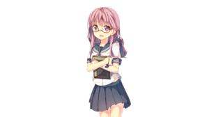 Anime Anime Girls To Aru Majutsu No Index Glasses School Uniform Artwork Yuuri Nayuta Book In Hand P 2560x1440 wallpaper