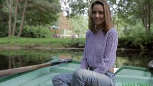 Women Model Smiling Russian Women Outdoors Trees Boat Lake Jeans Sweater Women Outdoors 2000x1333 Wallpaper