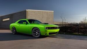 Car Vehicle Green Cars Dodge Challenger Hellcat Dodge Challenger R T 3840x2160 wallpaper