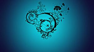Flower Spiral Blue 1440x900 Wallpaper