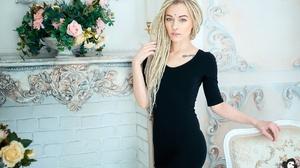 Women Dreadlocks Model Blue Eyes Piercing Tattoo 2432x1622 Wallpaper