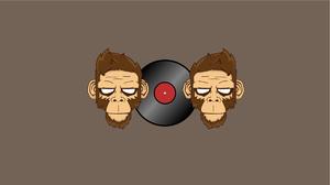Minimalist Monkey Vinyl 1921x1081 wallpaper