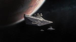 Spaceship Star Destroyer 3000x1500 Wallpaper