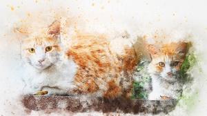 Watercolor Artistic Pet 3000x2000 wallpaper