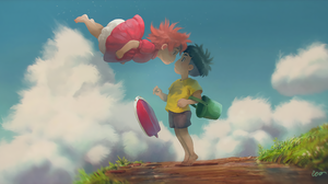 Ponyo Sosuke Ponyo Studio Ghibli 2560x1386 Wallpaper