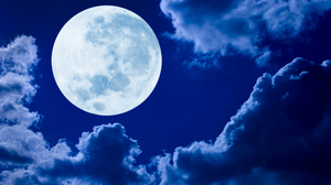 Blue Cloud Earth Moon Night 5000x3201 Wallpaper