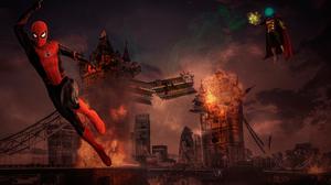 Mysterio Marvel Comics Spider Man Spider Man Far From Home Tower Bridge 4000x2672 Wallpaper
