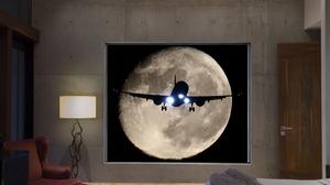 Lamp Armchair Room Window Aircraft Moon Night 1500x1000 Wallpaper