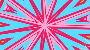 Artistic Blue Digital Art Kaleidoscope Pink 1920x1080 Wallpaper