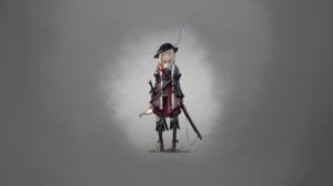 Anime Knight Sword Blonde Blue Eyes 2560x1440 Wallpaper