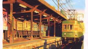 Artwork Digital Art Cityscape Train 1920x1336 Wallpaper